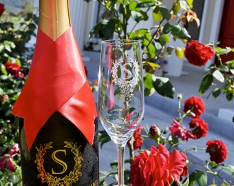 Custom Engraved Sarabah Brut Reserve Sparkling Wine Gift: Perfect for Valentine's Day, Wedding Gifts, Engagement Gifts and Anniversary Gifts