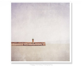 Lighthouse Decor, Lighthouse Art Print, Made in Ireland, Dun Laoghaire, Nautical Decor, Beach House Decor