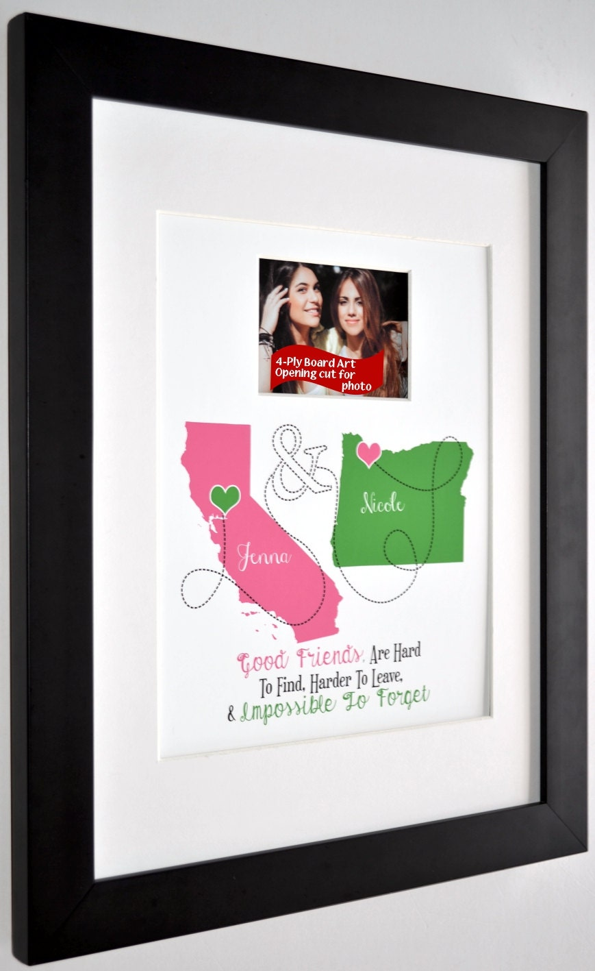 Best Friend Gift Ideas Friendship Quote Custom Moving Away