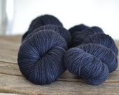 Luxury High Twist - Fingering Weight - In the Navy - Suzy Parker Yarns - Superwash Merino/Cashmere/Nylon100g 366meters/400 yards
