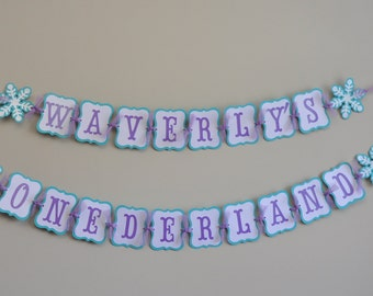 Winter Onederland Banner, Winter Wonderland Party, Snowflake Banner