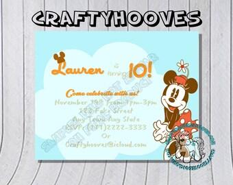 Totoro Birthday Invitations U Print Custom Party Celebration