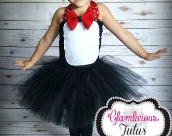 Penguin inspired Tutu Dress | Tuxedo Tutu | Newborn- Teen listing|