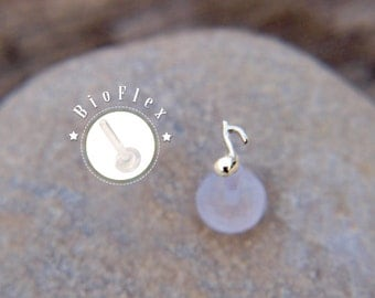 Music Note TRAGUS sterling silver /16 gauge/ BioFlex/ Sterling silver/ tragus earring/labret earring/tragus/cartilage earring/ helix