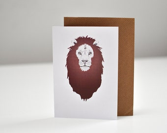 A6 Lion (King of the Jungle) blank greeting