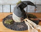 Primitive Witch Hat Halloween Decor