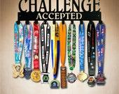 Medal Display - Challenge Accepted 10 Hook Running Medal Holder , Medal Hanger,  Medal Rack