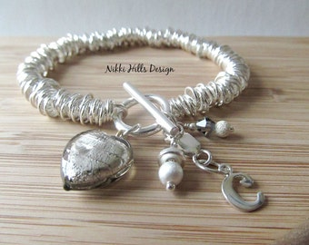 Sterling Silver Link Bracelet, Link Bracelet, Sweetie Collection, Gift for Her by Nikki Hills Design