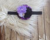 Sea Villain {Headband} Fairy Tales Collection || Ursula inspired headband || purple, white and black headband || nb-child