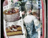 Vintage-Inspired, Collaged Marie Antoinette Large Glass Magnet