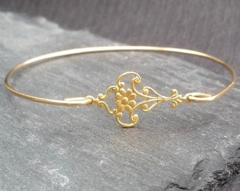 Gold or Silver Moroccan Bangle Bracele   India Bangle   Silver Boho Gypsy Bracelet   Hipster Jewelry   Boho Chic Bracelet   Bohemian Jewelry