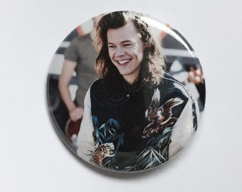 Harry Styles at GMA-One Direction Pinback button-2.25 inch