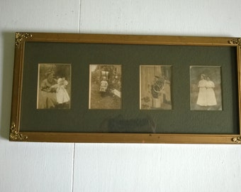 CLEARANCE Antique Family Photos Victorian Edwardian Era Framed Wall Decor Time Travel Home Decor Mysterious Hauntingly Beautiful Ghosts