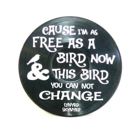 free bird by lynyrd skynyrd vinyl song lyrics on vinyl record. Black Bedroom Furniture Sets. Home Design Ideas