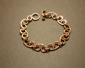 Copper chain bracelet, woman bracelet, metal bracelet, copper chain, copper anniversary, 7th anniversary, women copper jewelry