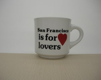 San Francisco is for Lovers Mug w Red Heart - Papel Ceramic
