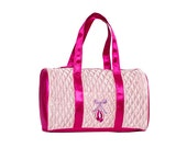 SALE Pretty in Pink Dance Duffel Personalized Dance Bag Recital Ballet Bag  Valentine Birthday Gift Ballet Tap Dance Bag Small Dance Bag