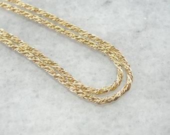 Fancy Twist, Vintage Yellow Gold Chain Z46LA7-D