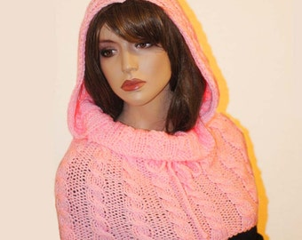 Winter Knitting  Snood ,Hood  Knitting Snood Scarf , knit hood, Knit Cowl