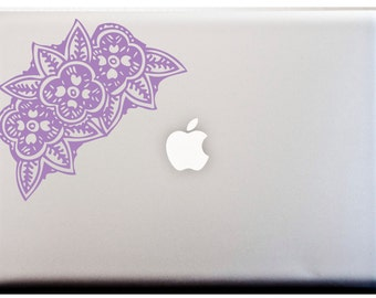 Indian FLOWER Henna Design Laptop Vinyl Decal Car Decal