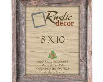 "8x10 -2"" wide Rustic Barn Wood Signature Photo Frame"