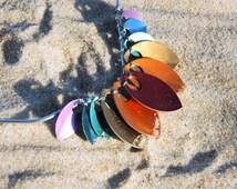 Rainbow Dragon Scale Necklace