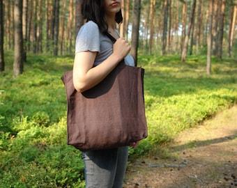 Linen tote bag Linen bag Linen shoulder bag Shopping bag Grocery bag Tote bag Grocery bag Market bag Tote Scandinavian Fabric