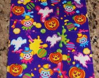 Vintage Lisa Frank Halloween Sticker Sheet S259