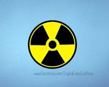 Radioactive vinyl decal sticker