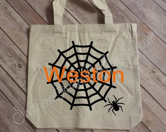 Trick or Treat Bag, Personalized Halloween Bag, Candy, Halloween, Trick or Treat