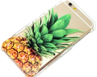 Pineapple Clear Henna Hipster Style Transparent Clear Phone Case iPhone 6, 7, SE, 6 Plus, 7 Plus, 6S, 5, 5C, 5S, Galaxy S6, S7, Note 7