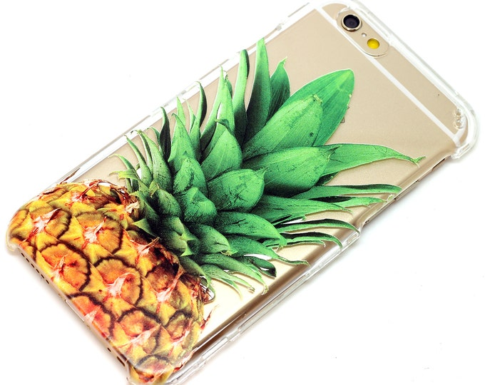 Featured listing image: iPhone Phone Case Pineapple Fruit Hawaiian Tropical Transparent Clear Decorative Vanity iPhone 6 iPhone 7 iPhone Plus iPhone SE Galaxy Note