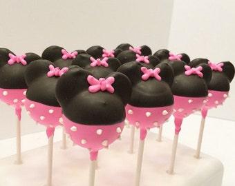 Minnie Mouse Cake Pops (1 Dozen)