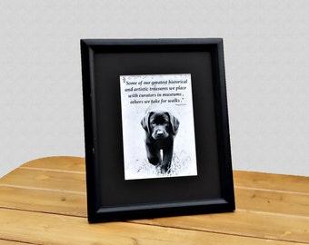 Black Labrador Retriever Quote Art - Black Lab Art - Quote Print - Labrador Retriever Art - Quote Art - Dog Lover Gift
