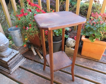 Antique Oak Plant Stand