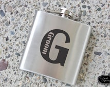 SHIPS FAST, Groom Flask, Custom Flask, Engraved Flask, Stainless Personalized Flask, Groomsmen, Bachelor, Bridesmaid, Wedding Flask - F22