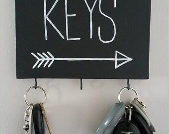 Key Ring Holder, 5x7 Canvas