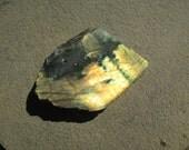 Labradorite Stone - Raw Labradorite Slab Polished On One Side. Cutting Rough Labradorite Loose Stone - Flashy Labradorite Raw Stone