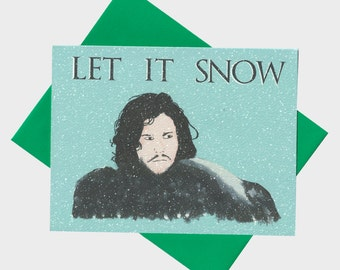 Funny Christmas Card - Let It Snow - Tv Show Christmas Card - Pop Culture Christmas Card - Trendy Holiday Card - Christmas Card