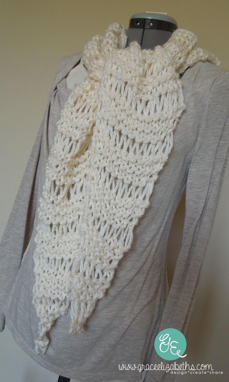 Easy Knitting Patterns For Chunky Yarn : Easy Knit Scarf PATTERN Use bulky yarn / chunky by GraceElizabeths