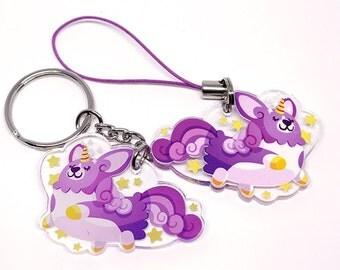 Unicorgi, Cute Corgi Keychain, unicorn, unicorn keychain, pegasus, Phone Charm, dog lovers, pembroke welsh corgi, corgis, funny gifts