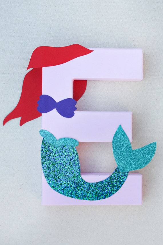 Mermaid party decoration disney little by littleabcdesigns for Ariel decoration