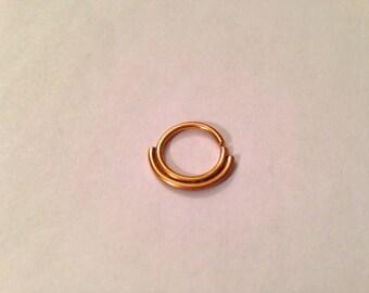 Shiny Gold Double Septum Ring