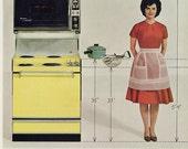 1960s Westinghouse Range Ad Retro Housewife Photo Vintage Stove Oven Appliance Sexist Advertisement Retro Kitchen Wall Art Decor Print