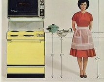 1960s Westinghouse Range Ad Retro Housewife Photo Vintage Stove Oven Appliance Sexist Advertisement Retro Kitchen Wall Art Decor Print