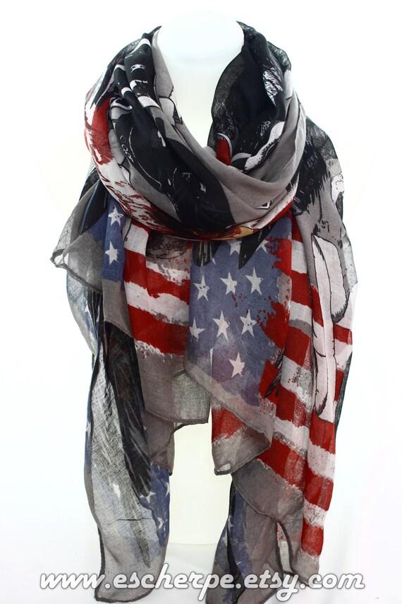 flag eagle motorcycle rider scarf by escherpe