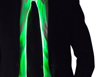 Light Up Neck Tie, Bow, Glow in the Dark, Light Up, Rave Wear, Tron, Costume, LED