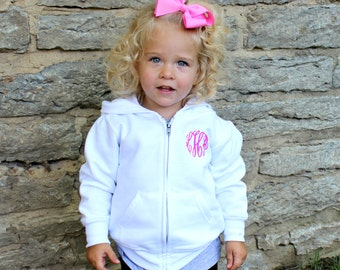 Monogrammed Infant | Toddler Full-Zip Hooded Sweatshirt
