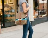 Waxed Canvas Messenger Bag with Big Thunder Wool / Waxed Canvas Satchel