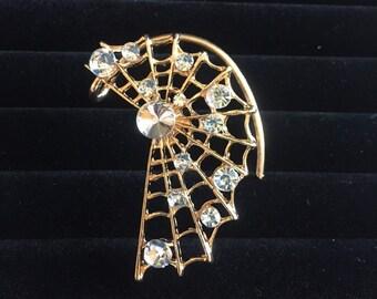 Spider web ear cuff - left ear